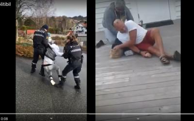 Nejdrsnější policejní zákroky a dětské ruce vpoutech, to je Norsko